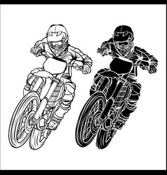 Set motocross and supermoto vector