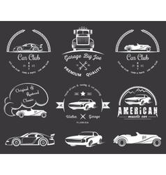 set vintage badges vector image