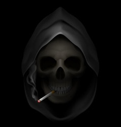 smoking kills Skull death 05 vector image