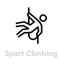 sport climbing icons vector image
