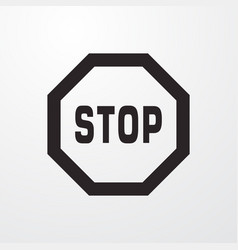 Stop sign icon flat design style for web vector