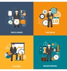 Time Management Flat vector image