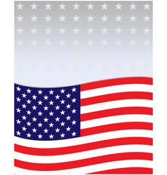 usa flag decorative background frame flyer vector image
