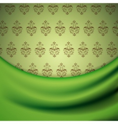 wallpaper and drapery vector image