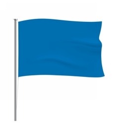 Waving blue flag tempalte vector