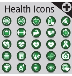 Web Site and Internet Icons medicine fitness vector image