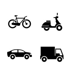 wheeled vehicles transport simple related vector image