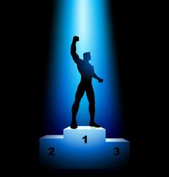 Winner on rank podium vector