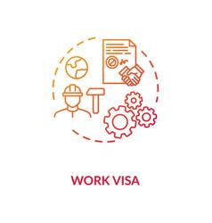 Work visa application concept icon vector