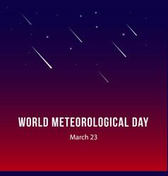 World meteorological day template design vector