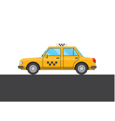 Yellow taxi picture vector
