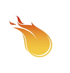 Fireball-380x400 vector image vector image