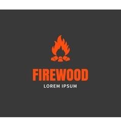 Firewood emblem template vector image