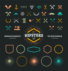 Hipster Elements 1 vector image vector image