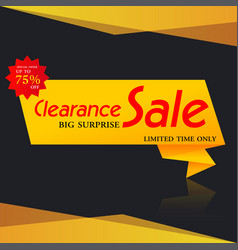 banner sale vector image