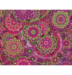 flower paisley seamless ethnic pattern vector image vector image