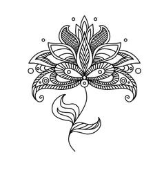 Paisley ornate floral design element vector