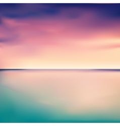 Panorama of a sunset in the sea or ocean vector image vector image
