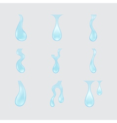 collection of water drops vector image