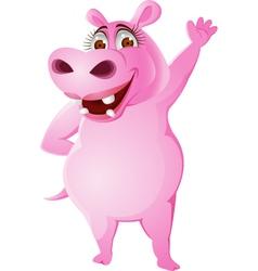 Female hippo vector image