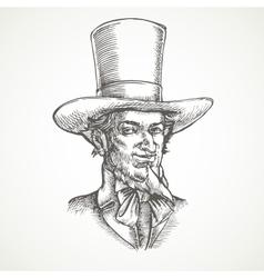 Gentlemens portrait Vintage vector image vector image