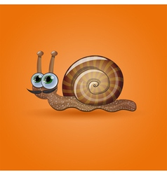 Isolated funny snail vector image