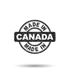 made in canada stamp on white background vector image