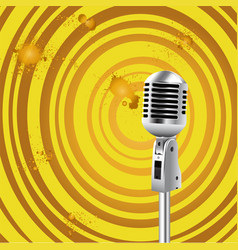 retro microphone old style background vector image vector image