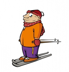 skier male vector image