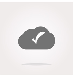 speech bubbles cloud with check mark web icon vector image