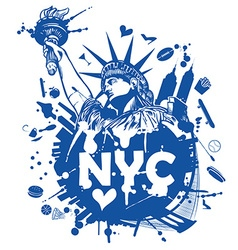 New york city background vector