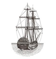 ship logo design template frigate or vector image