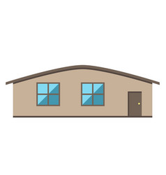 single-storey house isolated vector image