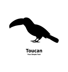 Standing on the ground silhouette toucan vector image vector image