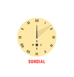 yellow simple sundial icon vector image vector image