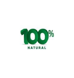 100 natural 3 d number template design vector