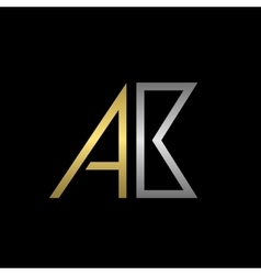 AB letters logo vector