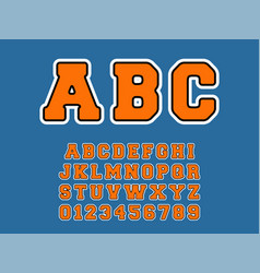 Abc alphabet template set letters and numbers vector