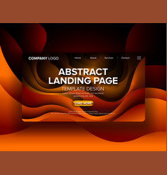 Abstract landing page design vector