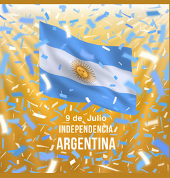 argentina independence day card vector image