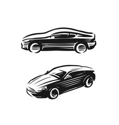 auto style car logo sports vehicle symbol vector image