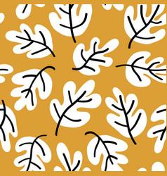 autumn oak leaves seamless pattern vector image