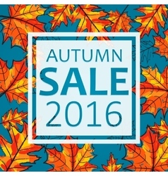 Autumn sale seasonal vector