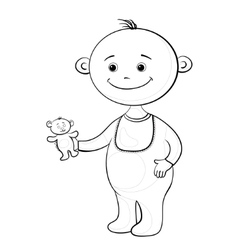 baby with a teddy bear vector image