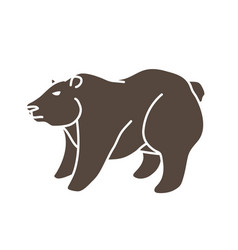 big bear standing graphic vector image