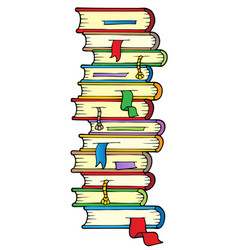 Big column of books vector