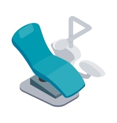 Blue dentist chair icon isometric 3d style vector image