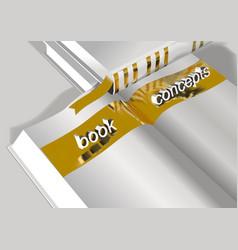 book concepts education concept vector image