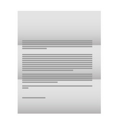 business corporate letter document template vector image