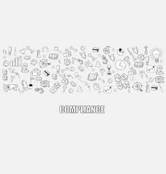 Business development doodles objects background vector